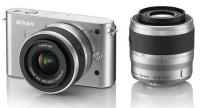 Nikon 1 J1 + 10-30 VR + 30-110 VR Silver