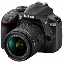 Nikon D3400 + AF-P 18-55 VR + 70-300 VR + čistící pero LENSPEN