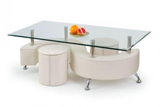 Nina III konferenční stolek (bílá)