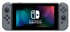 Nintendo Switch console with grey Joy-Con V2
