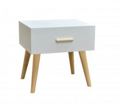 Noční stolek Creative (bílá/buk)