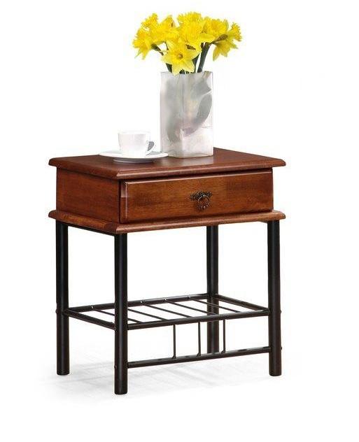 Noční stolek Fiona - Noční stolek (antická třešeň, černá)