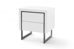Noční stolek Garet (bílá mat)