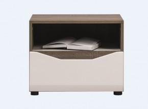 Noční stolek Leone (dub trufel, bílá lesk)