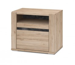 Noční stolek Minneota - 60,1/52,4/40,2 (dub san remo sand)