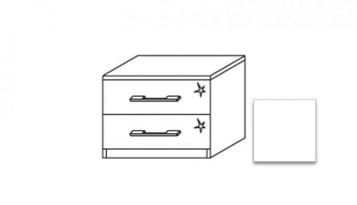 Noční stolek Modena A - Noční stolek, 2x zásuvka