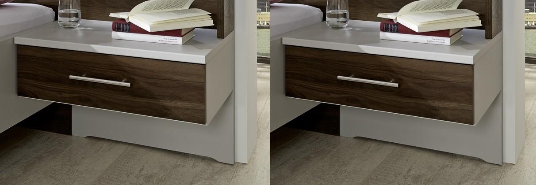 Noční stolek Noční stolek Imola - 1x výsuv, visutý, 2 ks (champagne, nocce)