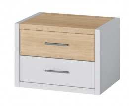 Noční stolek Oslo (dub sonoma/bílá)