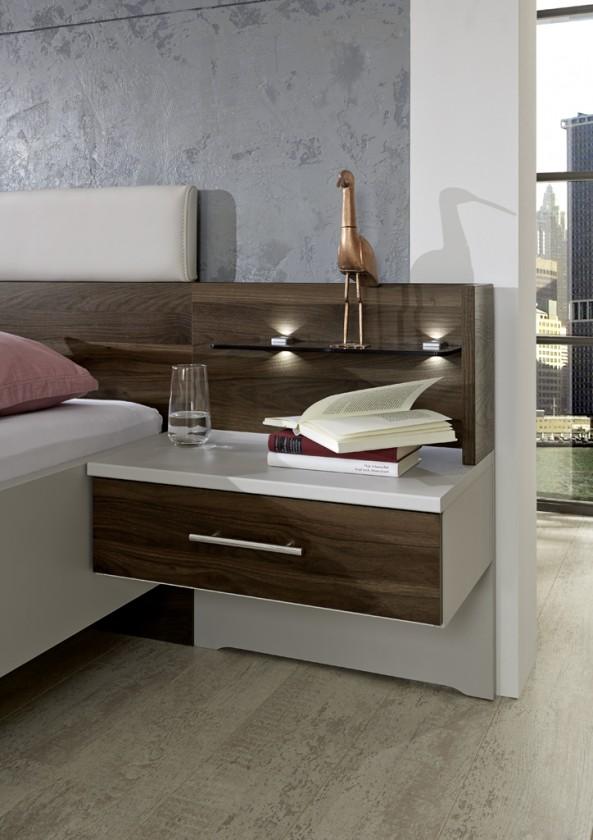 Noční stolek Panel na noční stolek Imola - sestěnou, 2 ks (champagne, nocce)