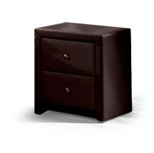 Noční stolek Prima (tmavě hnědá)