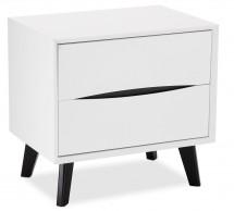 Noční stolek Sens (bílá, černá)