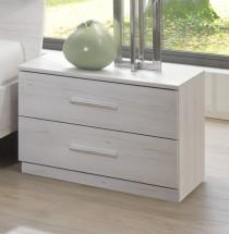 Noční stolek Susan 803697(803 - bílý dub, chromové doplňky )