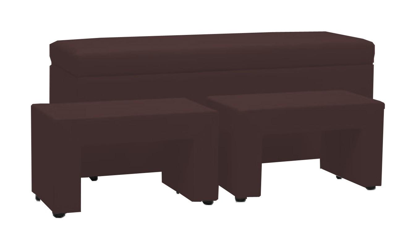 Noční stolek TRIPLE + NIGHT STANDS (brown, sk. III)