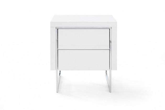 Noční stolky Noční stolek Garet (bílá lesk)
