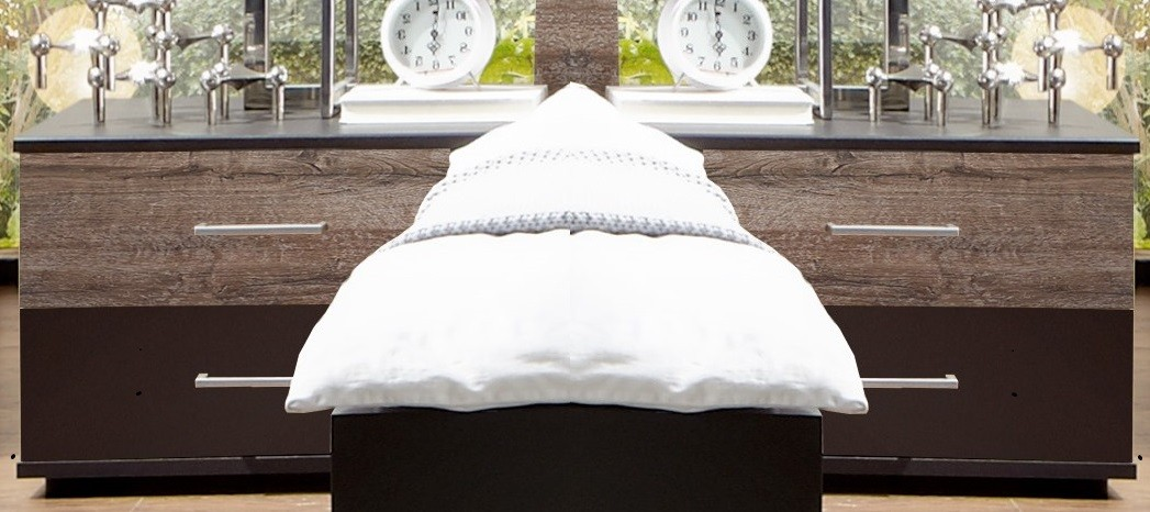 Noční stolky Noční stolek Madeira - 2ks (dub/láva)