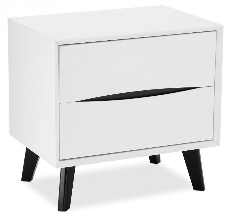 Noční stolky Noční stolek Sens (bílá, černá)