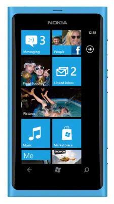 Nokia Lumia 800 Matt Cyan (modrá)
