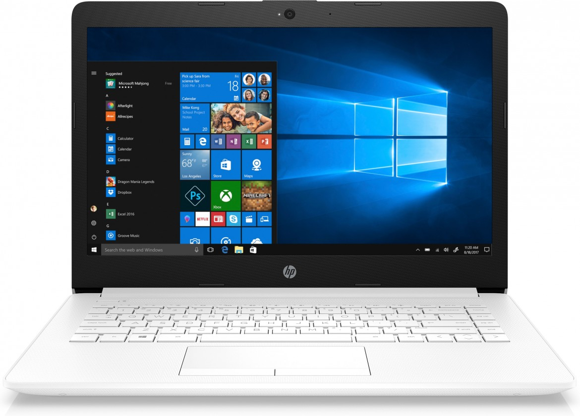 "Notebook HP 14"" Intel Celeron 4GB, 64GB, bílý 4XX13EA"