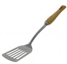 Obracečka s otvory de Buyer 270106, nerez/bukové dřevo