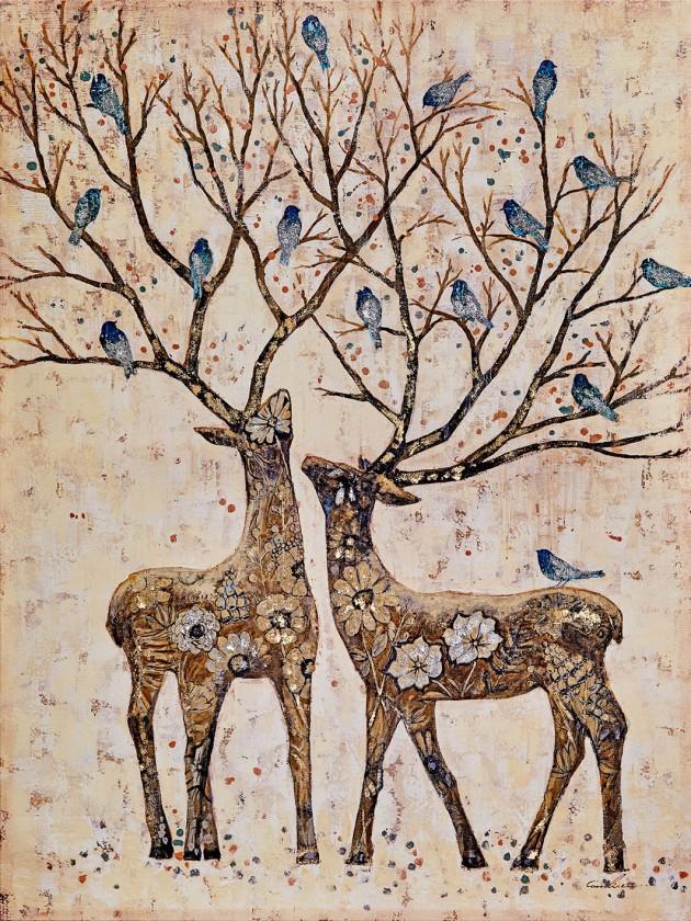 Obraz B023, 120x90 cm (print a paint)