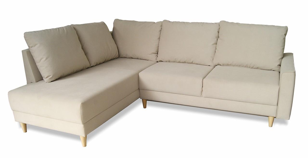 Obývací pokoje Izabel - roh levý, rozkládací, úložný prostor