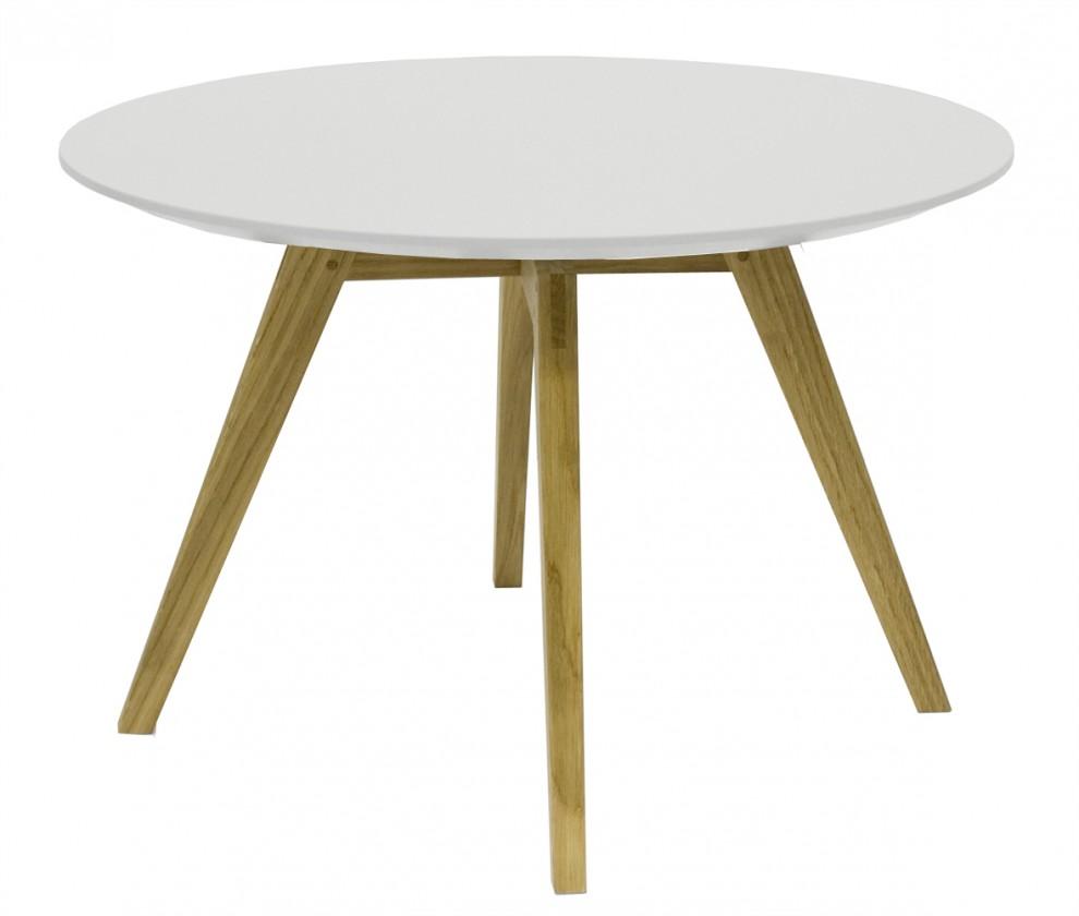 Obývací pokoje ZLEVNĚNO Konferenční stolek Lola Bess - bílá, dub (9317-054+9366-001)