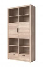 Obývací skříň Memesis - 2x dveře (dub sonoma)