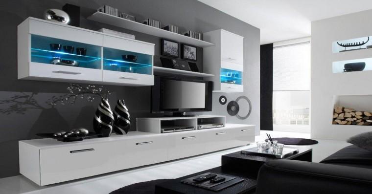 Obývací stěna Alfa - obývací stěna (bílá/bílá)