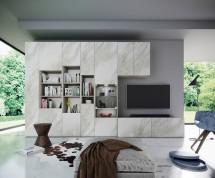 Obývací stěna Arnave (sonoma arwen/bílý mat)