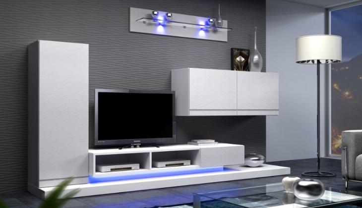 Obývací stěna Blanca - Obývací stěna (bílá)