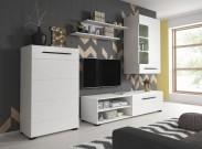 Obývací stěna Britta (bílý mat)