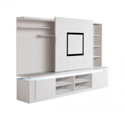 Obývací stěna Diva - TV stěna (bílá/černá)