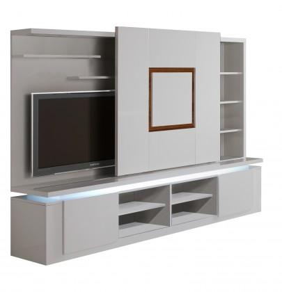 Obývací stěna Diva - TV stěna (bílá/ořech)