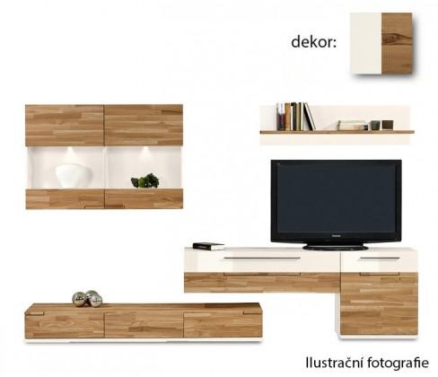 Obývací stěna Feel - Obývací stěna 4075005 (bílá/divoký buk/bílá)