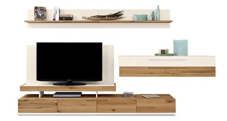 Obývací stěna Feel - Obývací stěna 4075505 (bílá/divoký buk/bílá)