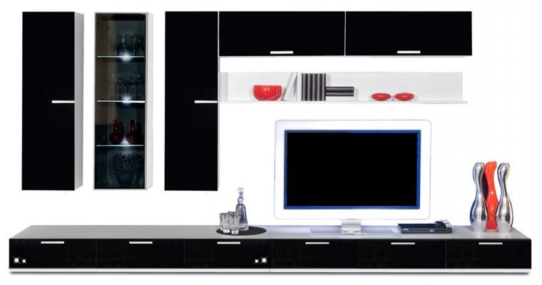 Obývací stěna Game - obývací stěna 3472059 (bílá/černá)