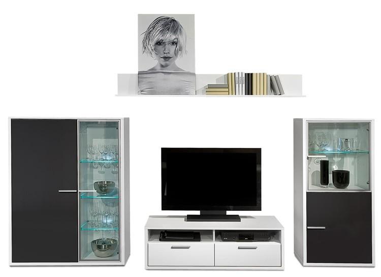 Obývací stěna Game - obývací stěna 347225 (bílá/černá)