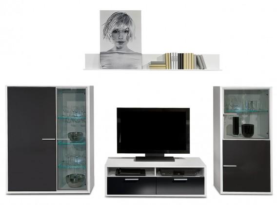 Obývací stěna Game - obývací stěna 3472259 (bílá/černá)