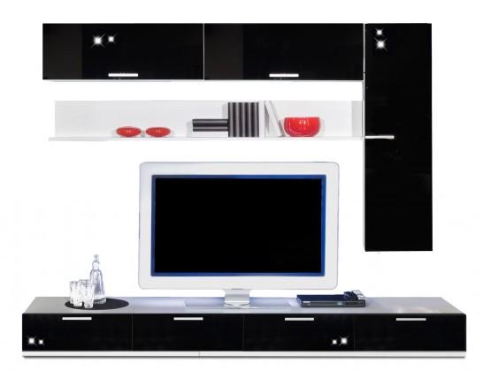 Obývací stěna Game - obývací stěna 3472759 (bílá/černá)