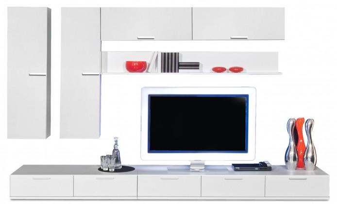 Obývací stěna Game - obývací stěna 347315 (bílá/bílá)