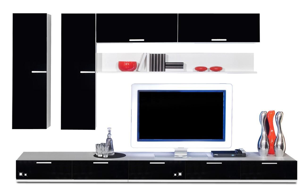 Obývací stěna Game - obývací stěna 3473169 (bílá/černá)