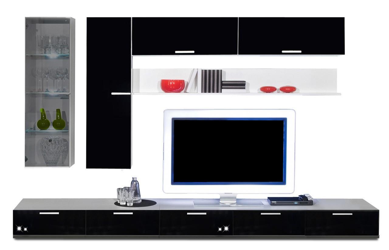 Obývací stěna Game - obývací stěna 3473269 (bílá/černá)
