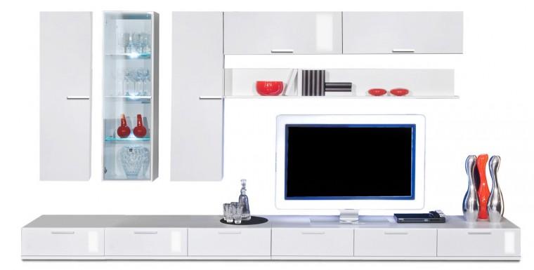 Obývací stěna Game plus - obývací stěna 3472057 (bílá/bílá lak HG)
