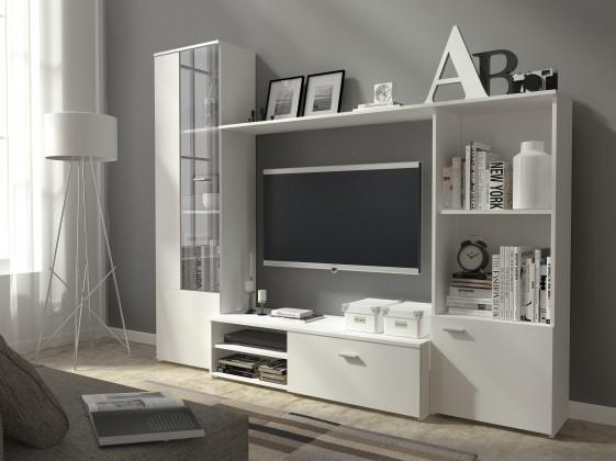 Obývací stěna Hugo - Obývací stěna (bílá)