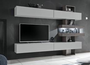 Obývací stěna Naduk (dub grafit, perla gray)