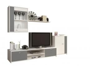Obývací stěna Zaga (bílá, šedá)