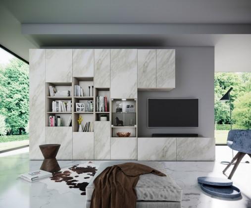 Obývací stěny Obývací stěna Arnave (sonoma arwen/bílý mat)