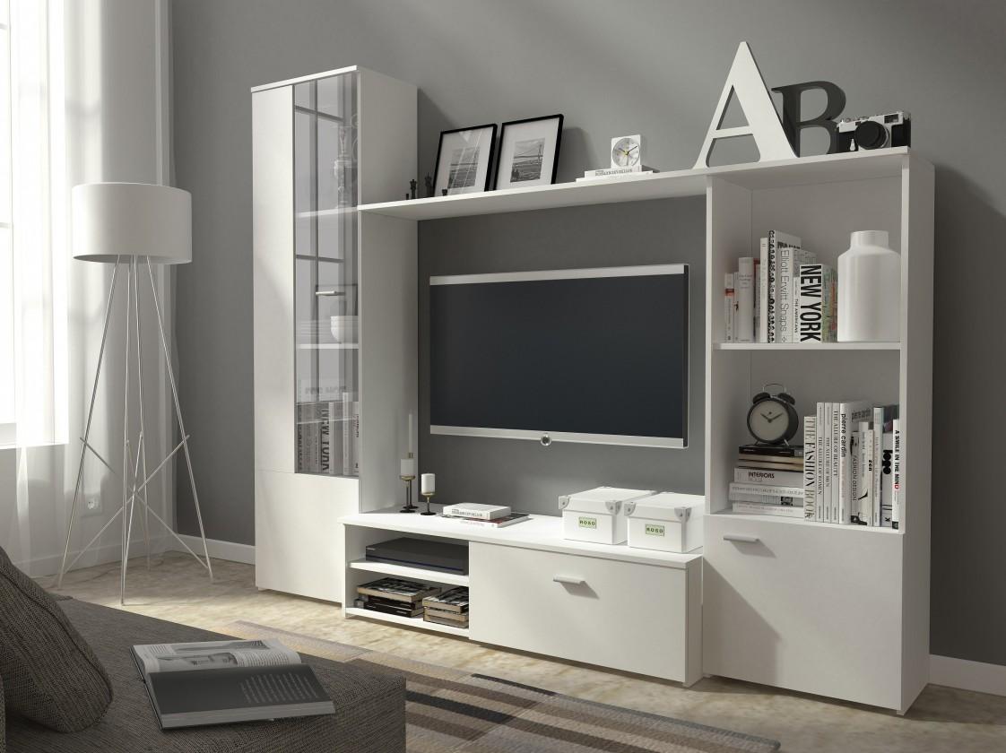Obývací stěny Obývací stěna Hugo (bílá)