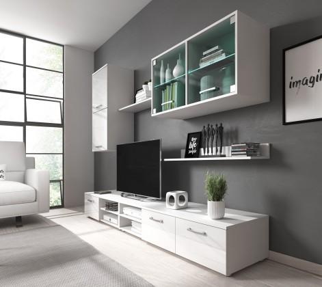 Obývací stěny Obývací stěna Klara (bílý mat/lesk)