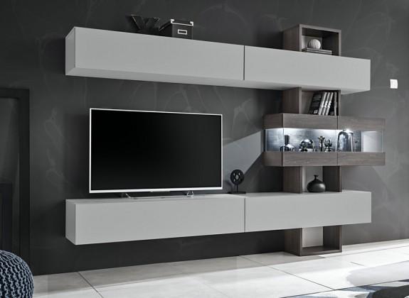Obývací stěny Obývací stěna Naduk (dub grafit, perla gray)